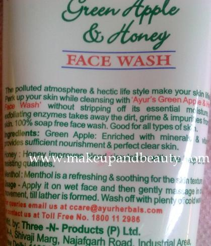 face wash4 Ayur Green Apple and Honey Face Wash Review