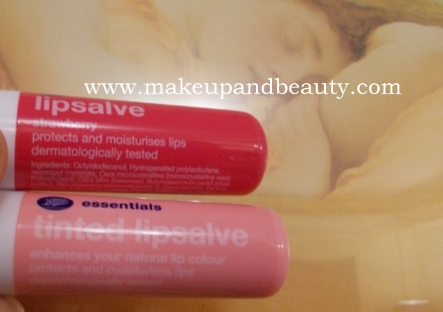 Boots Essentials Tinted Lip Salve Vs Strawberry Lip Salve