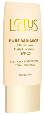 lotus pure radiance matte glow daily foundation