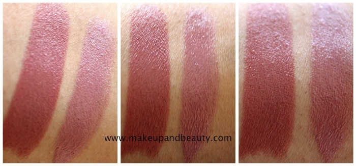 MAC Cosmo Lipstick vs MAC Syrup Lipstick Photos, Swatches