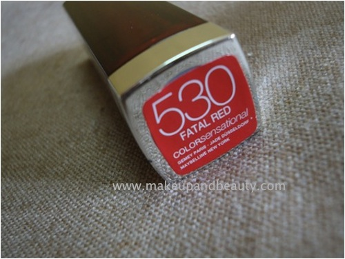 maybelline color sensational lipstick fatal red