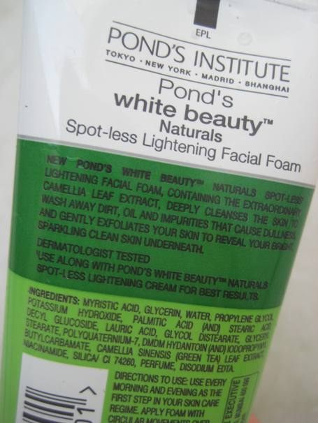 ponds lightening facial foam