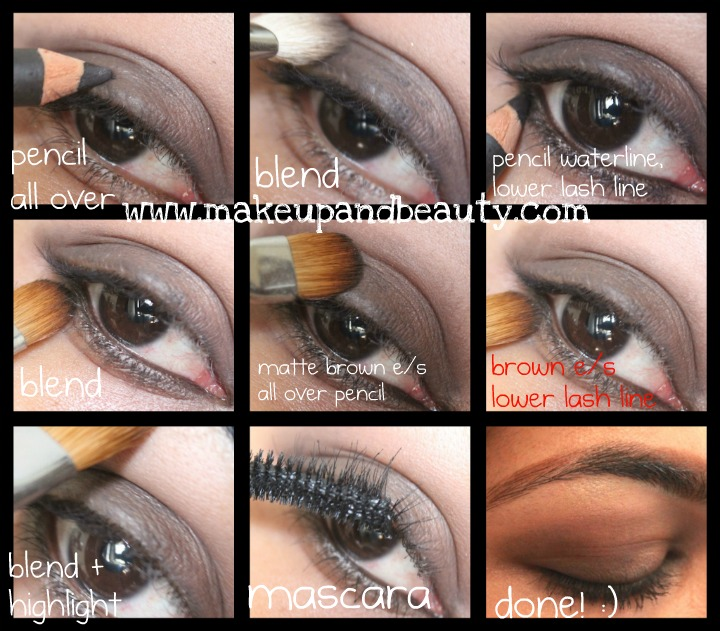 smokey brown eye makeup tutorial