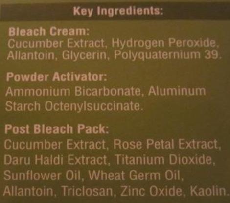 Bleach ingredients