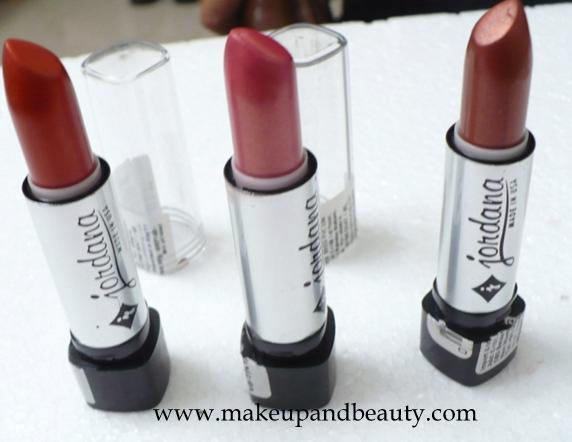 Jordana Jordana Lipsticks in Shade Amber, Bronze and All Spicy
