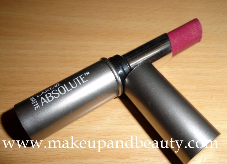 Lakme Absolute Matte Lip Color 201 Pure Glam Review Photos Swatches