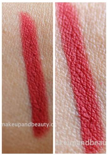 MAC Redd lip pencil swatch