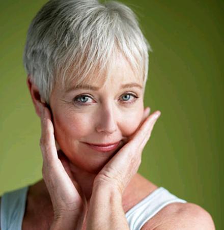 Makeup for elderly women