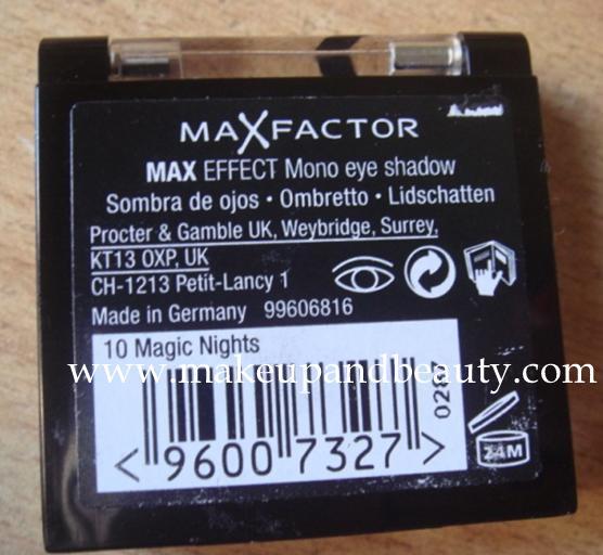 Maxfactor eyeshadow
