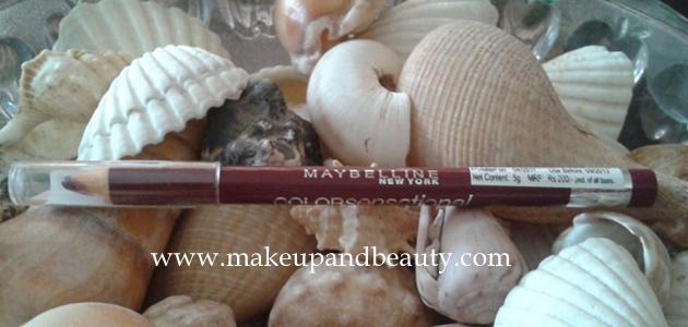 Maybelline Colorsensational Lip liner Midnight Plum Review