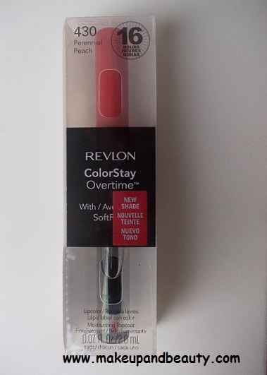 Revlon Colorstay Overtime Lip Color Perennial Peach Review
