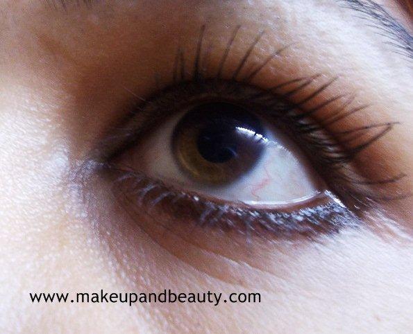 brown kohled eye