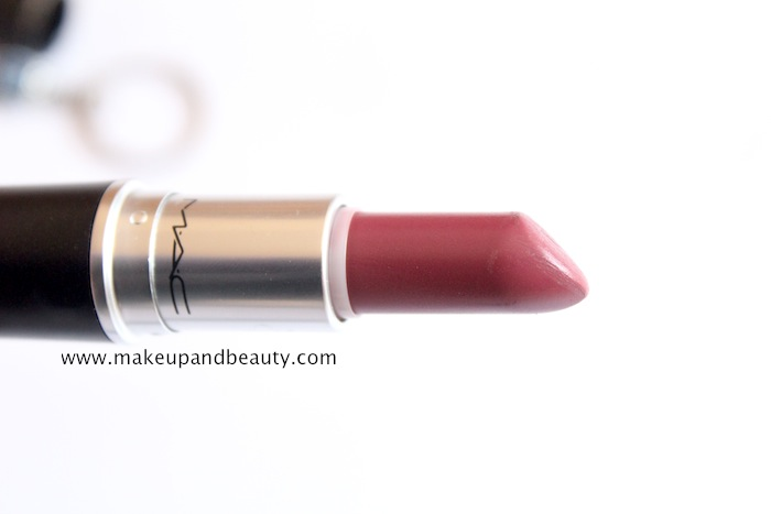 mac amorous lipstick review, swatch