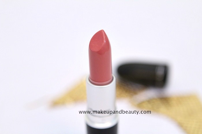 mac fanfare lipstick 1 MAC Fanfare Lipstick Review, Swatch, FOTD