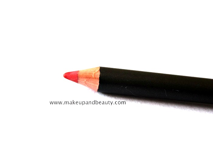 mac redd lip pencil review, swatch
