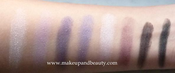 swatches of wetnwild eyeshadows