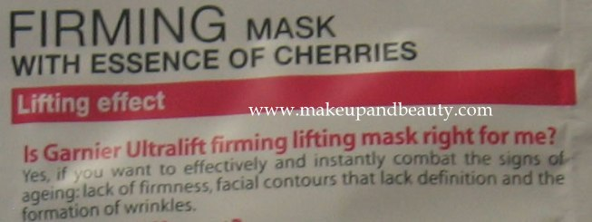 Garnier lifting mask