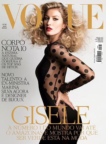 Gisele Bundchen on Vogue Cover