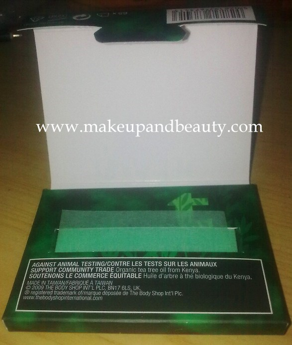 The Body Shop Blotting Tissues in Tea Tree and Lavender