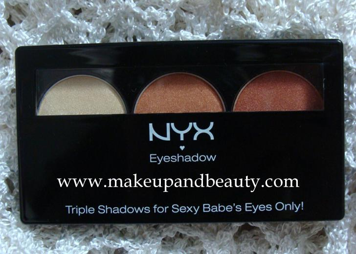 NYX Eyeshadow Trio TS24 Shimmer Peach Copper Review