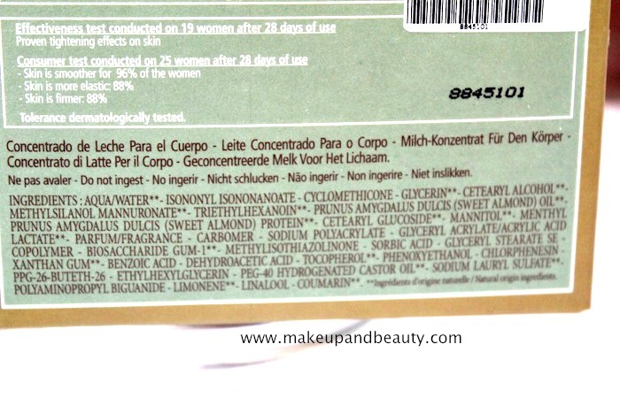Loccitane Almond Milk Concentrate Review Indian Makeup