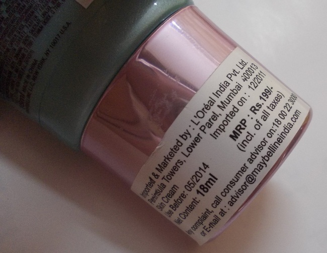 Maybelline ClearGlow Bright Benefit Cream Review