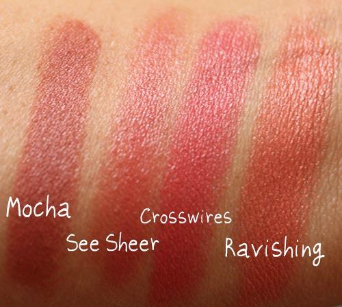 mac peach lipstick swatches
