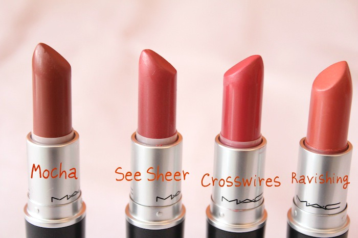 MAC peach lipsticks