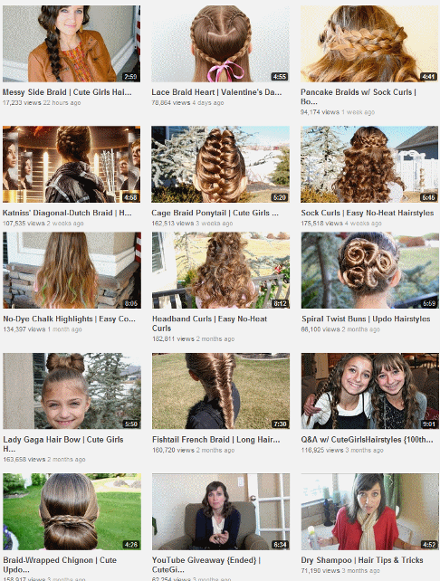 CuteGirlsHairStyles YouTube Hair Stylist