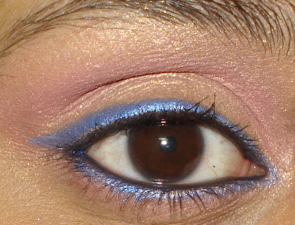Quick and Easy Gold Pink Blue Party Eye Makeup Tutorial