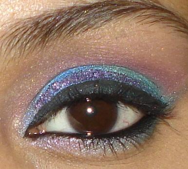 Colorful Wedding Party Eye Makeup