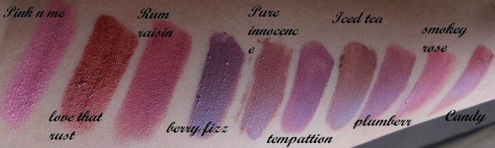 colorbar lipstick swatch