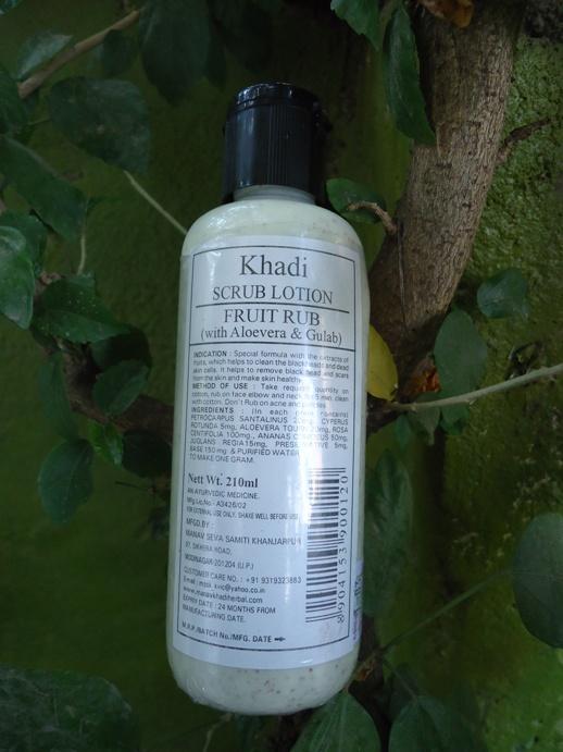 Khadi Scrub Lotion Fruit Scrub