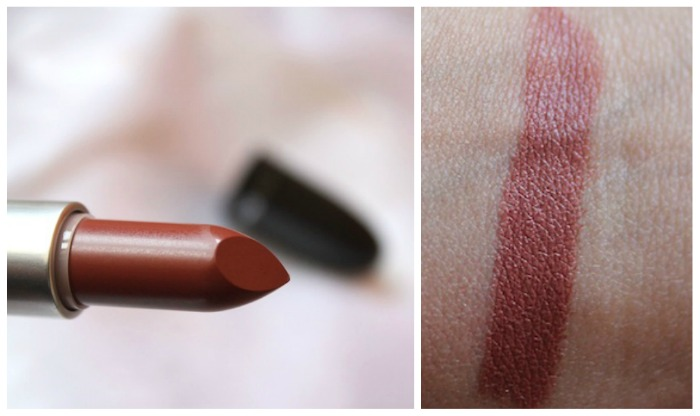MAC taupe lipstick swatch MAC Taupe Lipstick Review, Swatch, Outfit