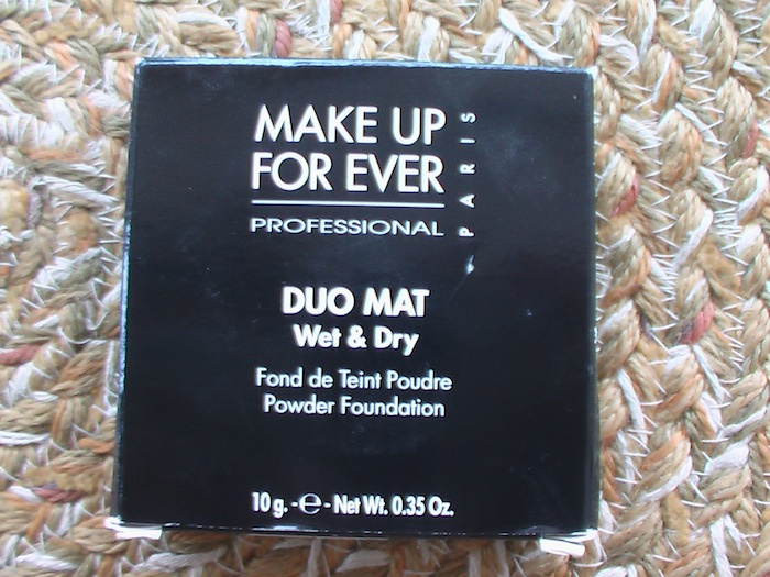 MUFE Duo mat wet dry powder foundation