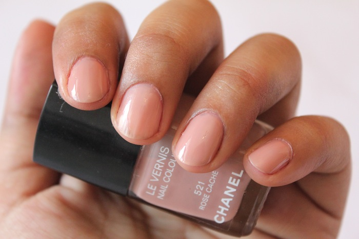 chanel rose cache nail polish 521