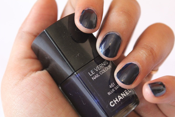 chanel blue satin 461 le vernis