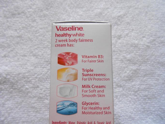 Vaseline Healthy White 2 Week Body Fairness Cream Review
