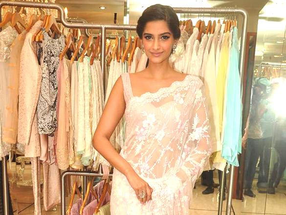 Sonam Kapoor in white saree