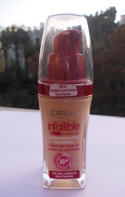L'oreal infalliable foundation