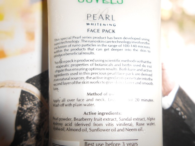 Jovees Pearl Whitening Face Pack