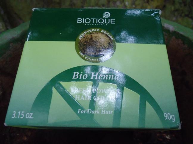 biotique bio heena fresh powder hair color for dark hair