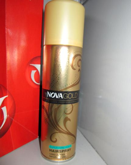 Nova Gold Super Firm Hold Hair Spray Review