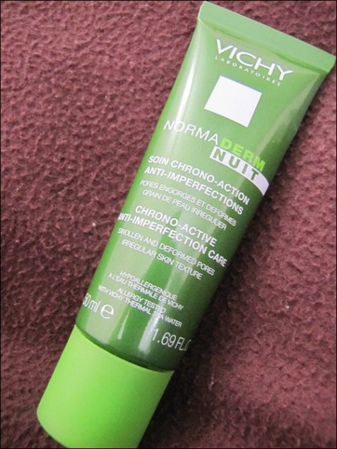 Vichy's Normaderm NUIT Chrono Active Anti Imperfection Care