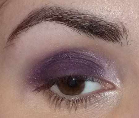 dramatic purple smokey eye makeup tutorial