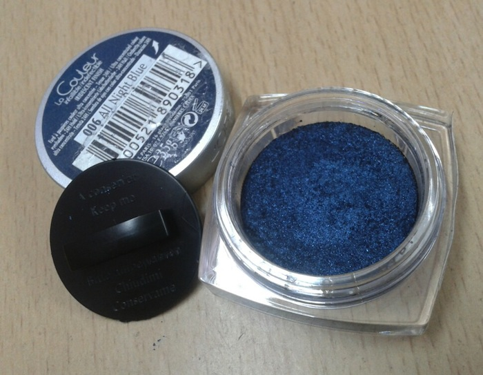L'OREAL INFALLIBLE EYESHADOW IN ALL NIGHT BLUE REVIEW