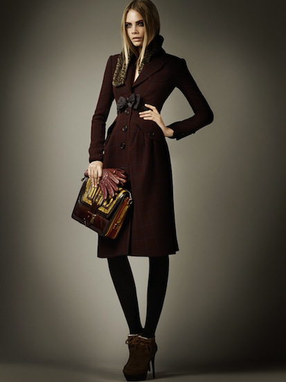 burberry pre fall 2012 oxblood