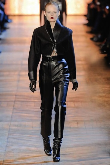 Leather trend fall 2012