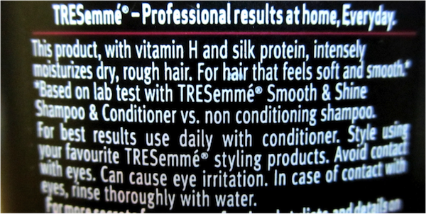 tresemme smooth shine shampoo