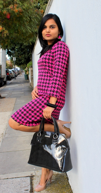 Houndstooth Print Dress 2